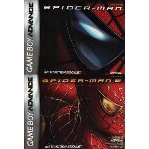 Spider Man 1 & 2 GBA Instruction Booklet (Game Boy Advance Manual Only