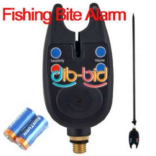 Digital Fishing Rod Audio Bite Alarm LED Alert Adjust Tone Tackle