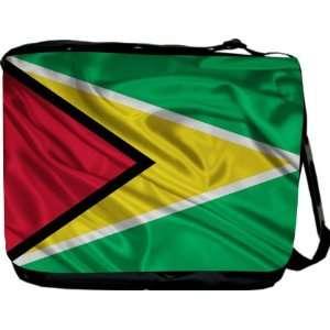 Rikki KnightTM Guyana Flag Messenger Bag   Book Bag   Unisex   Ideal