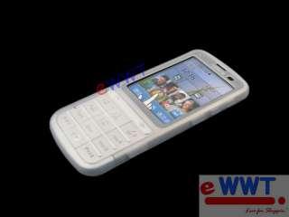 for Nokia C3 01 New White Silicon Skin Soft Cover Case