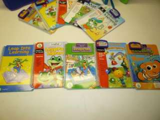 Leap Frog Leapad System 10 Books w/ Cartridges and Case