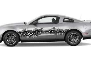 CAR VINYL GRAPHICS BODY FLAME DECAL CORVETTE MAZDA 045