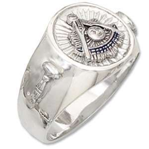 Sterling Silver Past Master Mason Ring Jewelry