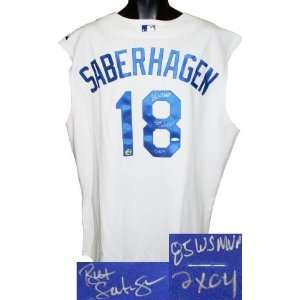 Bret Saberhagen signed Kansas City Royals Authentic Vest