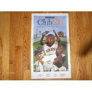 Barry Bond 9/12/07 600 Home Run Club San Francisco Chronicle Newspaper