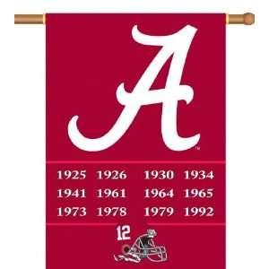 Alabama Crimson Tide Championship Years Two Sided 28 x 40