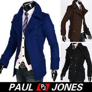 Double Breasted Peacoat Coats Outerwear 3Color+XS/S/M, Smart