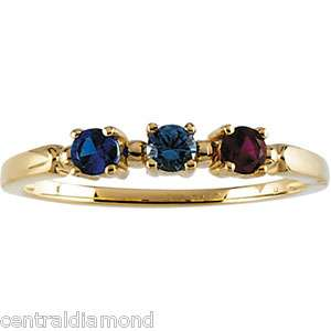 Family Mom Moms MOTHERS Stackable 10K Gold Ring Jewelry