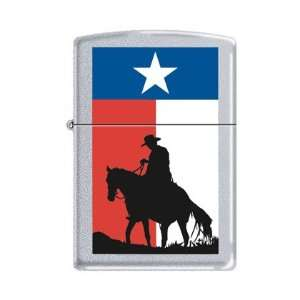 Cowboy with Texas State Flag Zippo Lighter Health