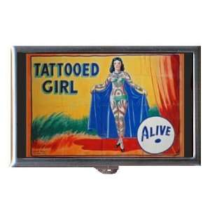 Circus Freak Tattoo Girl Wild! Coin, Mint or Pill Box Made in USA!