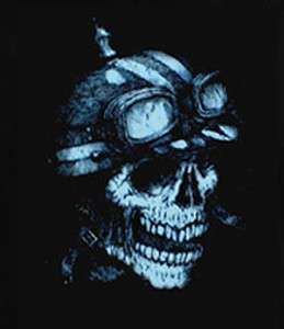 Biker GearHead Skull with Helmet chopper T Shirt