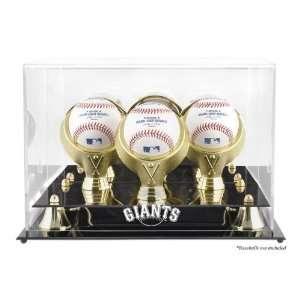 San Francisco Giants Golden Classic Three Baseball Logo Display Case