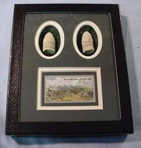 Civil War Bullet Gift Set / Commem. Stamp 1st Bull Run