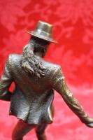 Art Deco Collector Solid Bronze Sculpture Statue Figure Michael