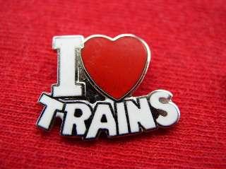 LOVE TRAINS RAILROAD HEART HAT PIN NEAT FUN ITEM