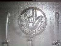 SIGN LANGUAGE W/WORDS CHOCOLATE CANDY SOAP MOLD MOLDS