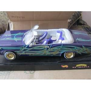 1965 Chevy Impala Lowrider Purple Trible 118 Scale