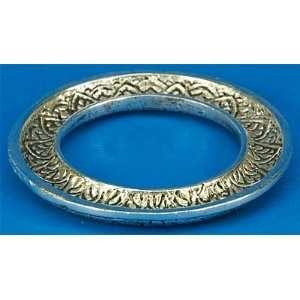 Silver tone Filigree Metal Oil Ring