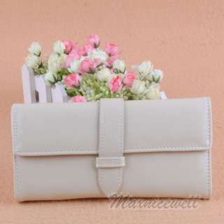 Popular Womens Pure Color Quality Wallet Purse Clutch Handbag Bag