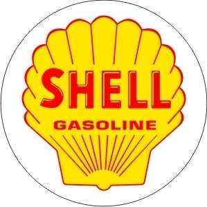 Vintage Shell Gasoline sticker decal sign 3 dia.