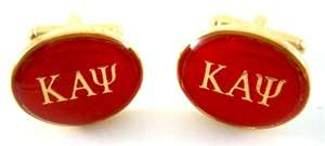 Kappa Alpha Psi College Fraternity Greek Gold Cufflinks
