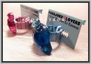 HARAJUKU LOVERS LOVE or QUEEN LUCITE STRETCH RING OSFA