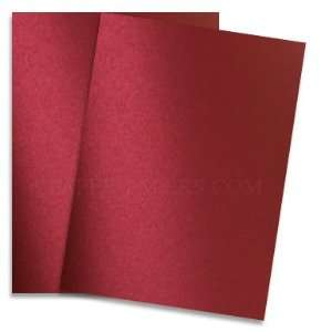 Shine RED SATIN   Shimmer Metallic Card Stock   8.5 x 11