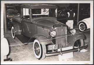 Old Photo 1933 1934 Ford Pickup Hot Rod Custom 498494