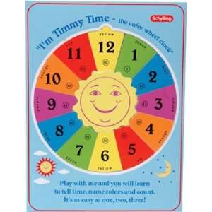 Preschool Toys: Clock Wood Telling Time Puzzle By