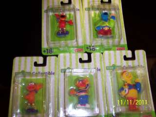 NIP Sealed Fisher Price Sesame Street Collectible Figures  2001  5 In