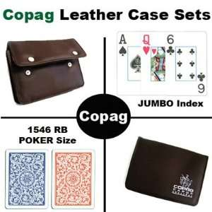 New High Quality Copag Branded Leather Case 1546 Red/Blue