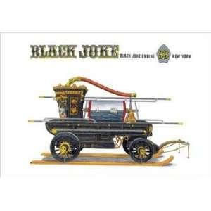Black Joke: Black Joke Engine 33 New York 28x42 Giclee on
