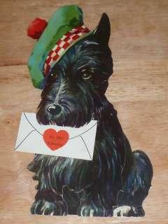 LARGE SCOTTISH TERRIER SCOTTIE DOG IN TAM Valentine 10