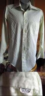 Vtg 70s MENS SHERBET GREEN MOD ROCKER SHIRT SMALL S