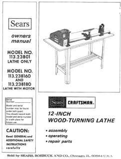 Craftsman Wood Metal Lathe Owners Manual Many Mod