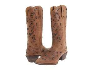 Miranda Womens Western Cowboy Boots Tan Crazyhorse 52101 Size 6 10