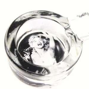 Glass ashtray Marilyn Monroe.