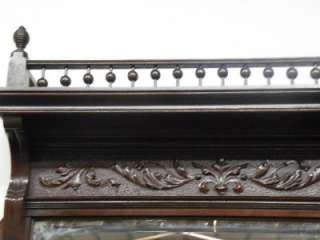 NICE AMERICAN VICTORIAN CARVED TOP AND BOTTOM FIREPLACE MANTEL #156