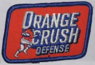DENVER BRONCOS NFL FOOTBALL ORANGE CRUSH DEFENCE PATCH