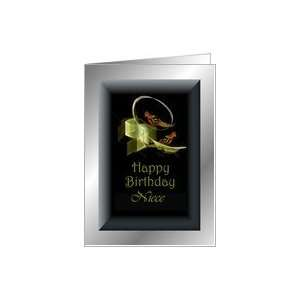 Niece Happy Birthday ~ Fractal Love Birds Card Health