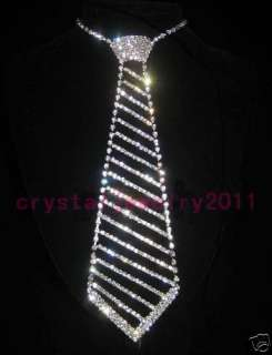 wedding bridal jewelry rhinestone crystal necklace necktie fashion 100