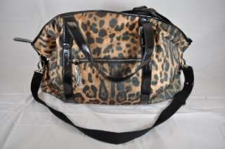 SANTI LARGE LEOPARD PRINT HOBO BAG, MANY POCKETS, VERY CUTE NEW AND