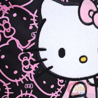 Hello Kitty 16 Large School Backpack Lunch Bag Set Black Pink