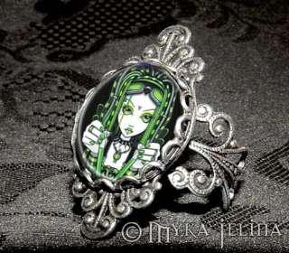 Cybergoth Dark Industrial Fairy Fantasy Art RING Vivian