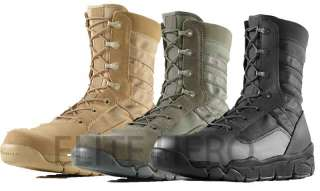 HOT WEATHER E LITE COMBAT BOOTS BLACK DESERT OR SAGE ALL SIZES 4 14
