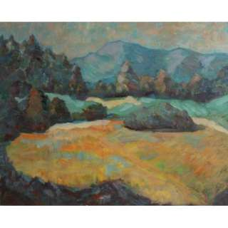ANTIQUE FRENCH OIL PAINTING LANDSCAPE SIGNED P. SERUSIER