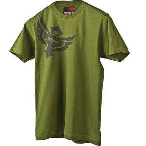 Fly Racing Badge T Shirt   2010   X Large/Green Automotive