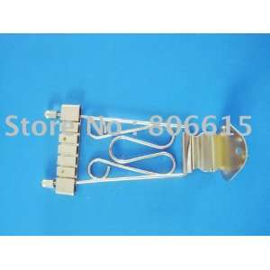 shipping high quality chrome bass trapeze tailpiece wired