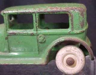 Ford Tudor Sedan White Rubber Wheels Original Green Paint NICE