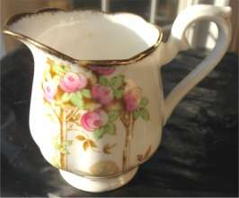 Old Royal Albert Crown China Rosalie Small Creamer